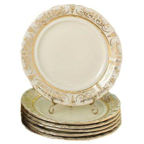 Набор тарелок 25 см 6 шт Leander Соната /Золотая элегантность /СК / 158350 набор салатников соната золотая элегантность 16 см 6 шт 07161413 1373 leander