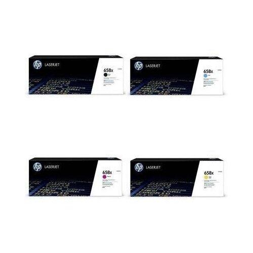 Фото - HP W2002X-W2003X-W2001X-W2000X Картриджи комплектом 658X полный набор повышенной емкости CMYK:28K, BK:33K стр. [выгода 2%] для LaserJet M751dn M751 hp m0j98ae m0j94ae m0j90ae m0k02ae картриджи комплектом 991x полный набор повышенной емкости cmyk 16k bk 20k стр [выгода 2