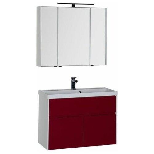 Aquanet Комплект мебели для ванной Aquanet Латина 90 бордо (00181087)