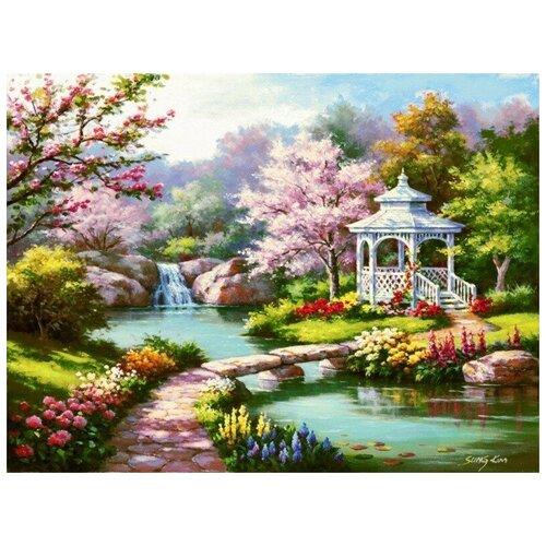 Купить Картина по номерам на холсте Paintboy Беседка , 40х50 см, GX-7847, Картины по номерам и контурам