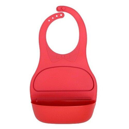 Купить Нагрудник детский с карманом-контейнером, цвет розовый, Mum&Baby, Нагрудники и слюнявчики