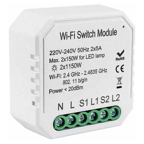 Умное беспроводное двухканальное WIFI реле Ps-Link QS-S04