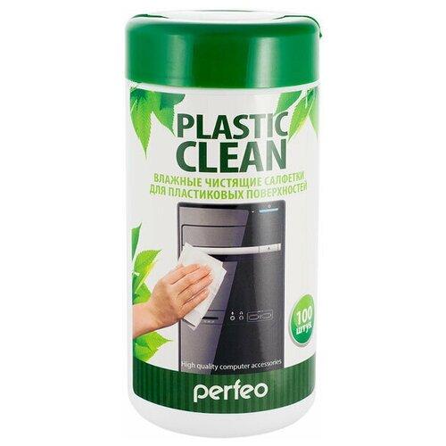 Фото - Чистящие салфетки Perfeo Plastic Clean, для пластиковых поверхностей, в тубе, 100шт. антибактериальные салфетки для поверхностей nv office мягкая упаковка 180х110 мм 15шт