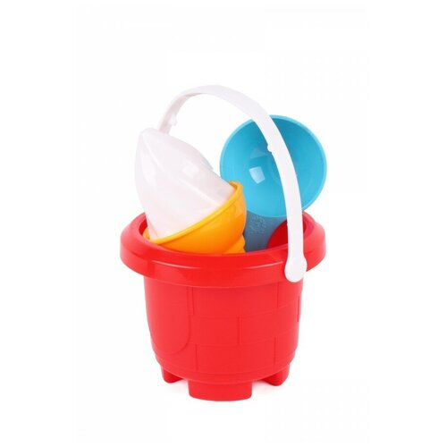 Набор для песочницы мороженое технок (ведерко для песочницы, лопатка детская, формочки для песка)