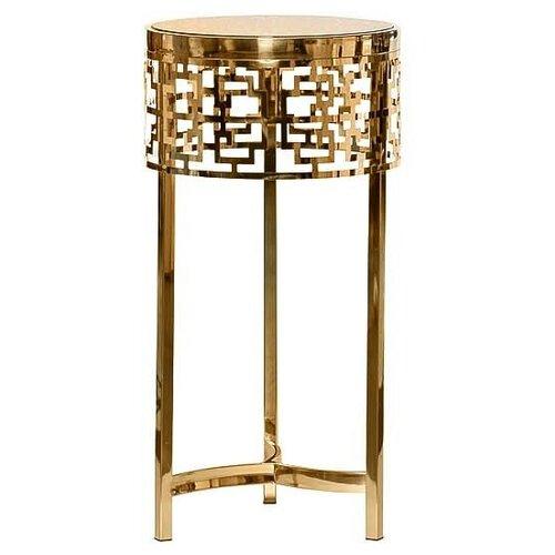 13RXFS5080L-GOLD Стол журнальный стекло коричн./золото d35*70см, 13RXFS5080L-GOLD, Garda Decor