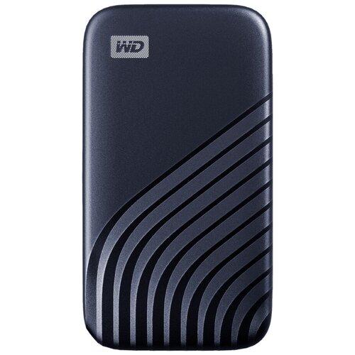 SSD накопитель Western Digital My Passport 2TB Mini USB 3.2 синий (WDBAGF0020BBL-WESN)