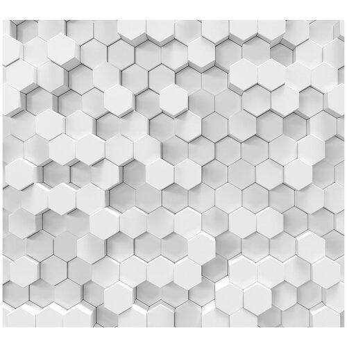 Фотообои 3D абстракция в виде сот/ Красивые уютные обои на стену в интерьер комнаты/ 3Д расширяющие пространство над кроватью или над столом/ На кухню в спальню детскую зал гостиную прихожую/ размер 300х270см/ Флизелиновые