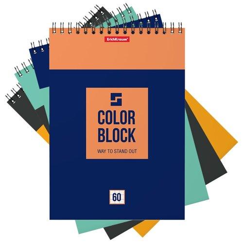 Купить ErichKrause Блокнот Color Block А5 ( 148х210 мм) 60 лклетка 49684 6 шт., Блокноты и записные книжки