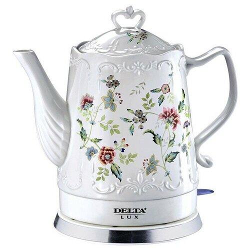 Чайник DELTA LUX DL-1239, белый