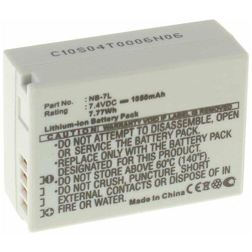 Аккумулятор iBatt iB-U1-F125 1050mAh для Canon PowerShot SX30 IS, PowerShot G12, PowerShot G10, PowerShot G11