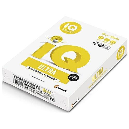Фото - Бумага IQ Ultra А4, марка А, 80 г/кв.м, (500 листов) бумага iq allround а4 марка в 80 г м2 500 листов