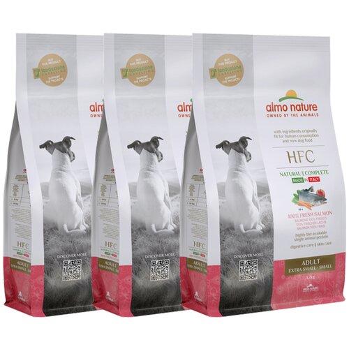 Almo Nature Для взрослых собак со свежим Лососем (50% рыбы) для карликовых и мелких пород (XS-S Adult Salmon) 1,2 кг х 3 шт.