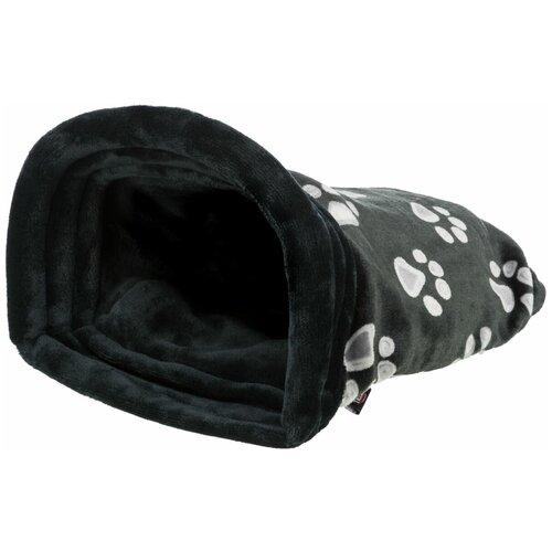 Лежак-пещера, 34 х 20 х 45 см, черный, Trixie (лежак для собак, 36610, серия Jiммy)