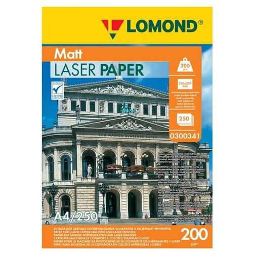 Фото - Фотобумага Lomond A4 200g/m2 матовая двухсторонняя 250 листов 300341 фотобумага lomond 100x150 180g m2 матовая односторонняя 50 листов 102063