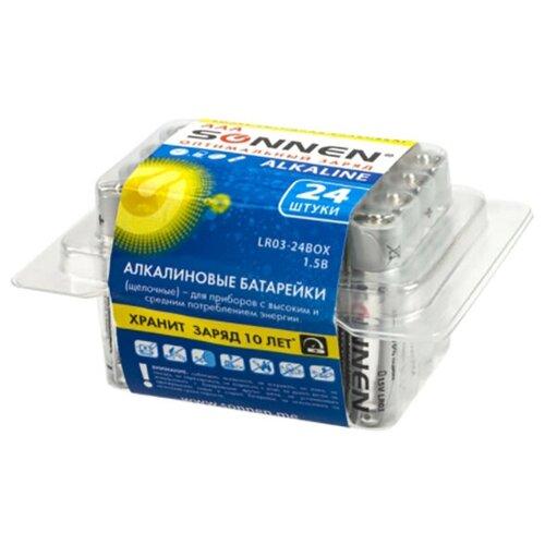 Батарейка AAA - Sonnen Alkaline LR03 24А (24 штуки) 455096
