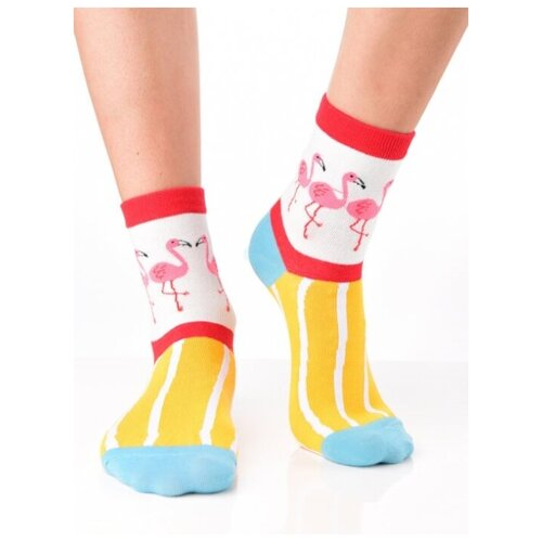 Яркие цветные носки унисекс, прикольные красочные носки колорблок/ Модные носки с рисунком/ Высокие носки из натурального хлопка с рисунком