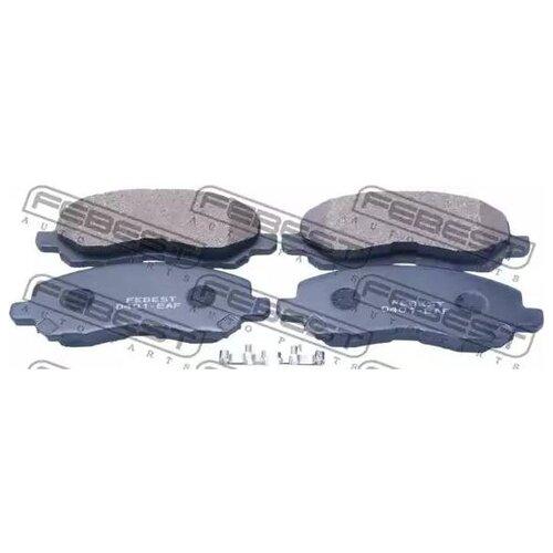 Дисковые тормозные колодки передние FEBEST 0401-EAF (4 шт.)