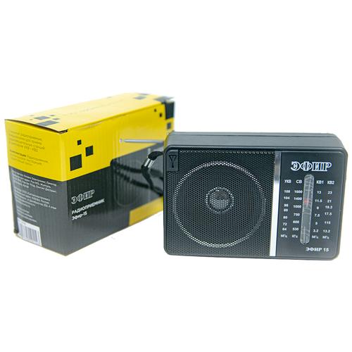Радиоприемник ЭФИР 15 (2021) черный