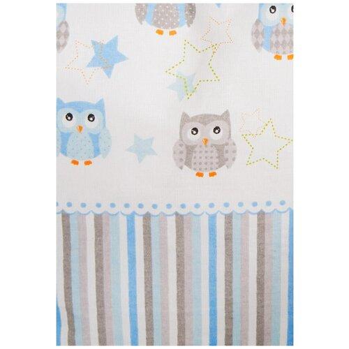 Бортики из подушек в детскую кроватку Софушки, 12 подушек, цвет: голубой