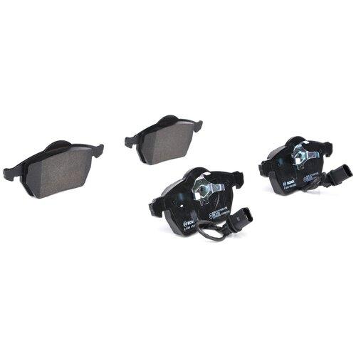 Дисковые тормозные колодки передние Bosch 0986494050 для Audi, Volkswagen, Skoda, SEAT (4 шт.) дисковые тормозные колодки передние bosch 0986494704 для skoda audi seat volkswagen 4 шт