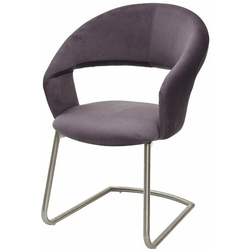 Стул-кресло на скобе VILLUS Grey Fabric (HY-HABABA12) ткань, M-CITY брюки columbia m csc log fleece jogger ii размер m black city grey