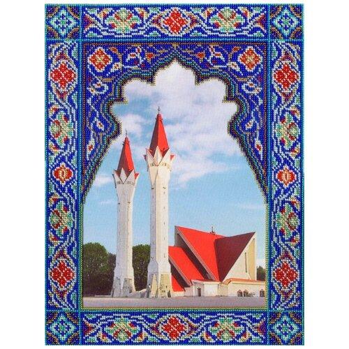 Набор для вышивания габардин+бисер МП студия арт.БГ-290 Мечеть Ля-ля Тюльпан 35х27 см
