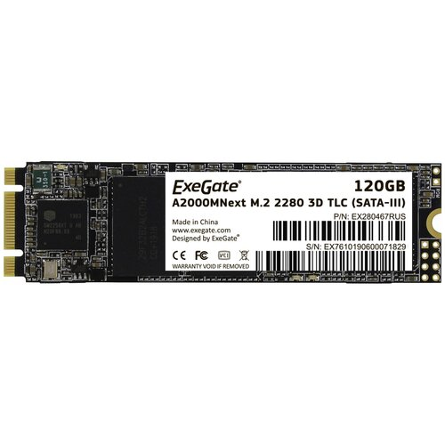 Фото - SSD накопитель ExeGate A2000MNext 120Gb,SATA lll, M.2 2280 ssd накопитель transcend ts120gmts820s 120gb m 2 2280 sata iii ssd ts120gmts820s