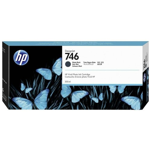 Фото - HP P2V83A Картридж оригинальный 746 черный Black 300 мл для DesignJet Z6, Z6 DR VT, Z9+ Z9, Z9+ DR VT принтер hp designjet z6 44 in