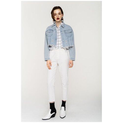 Джинсовая куртка 2021080602 Синий 46