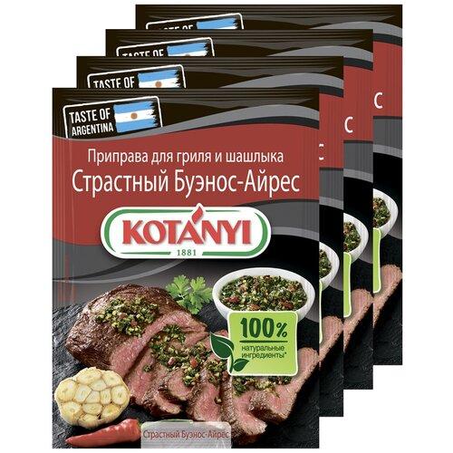 Приправа для гриля и шашлыка Страстный Буэнос-Айрес KOTANYI, пакет 20г (x4) приправа для чесночного соуса kotanyi пакет 13г x4