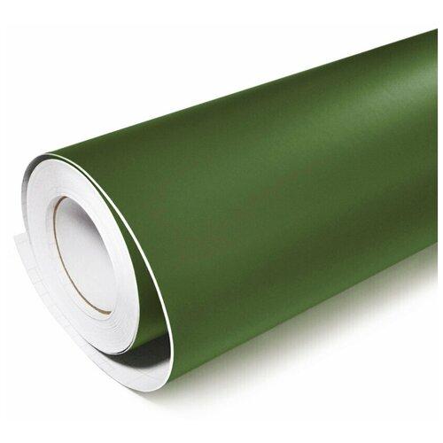 Виниловая рекламная пленка цветная матовая - для дизайна интерьера, плоттерной резки и наружной рекламы, цвет - армейский зеленый, 70х152 см