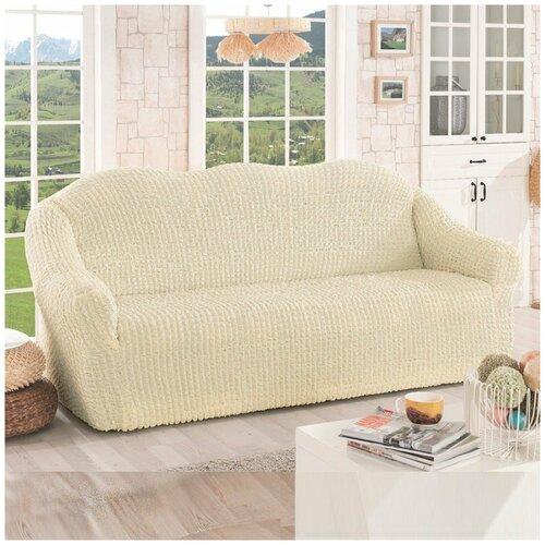 Фото - Чехол на диван двухместный Karna Турция - Кремовый диван диван турция 2 турция
