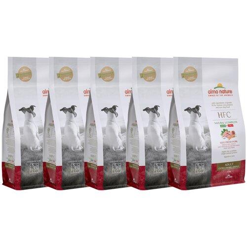 Almo Nature Для взрослых собак со свежей Свининой (50% мяса) для карликовых и мелких пород (XS-S Adult Pork) 1,2 кг х 5 шт.