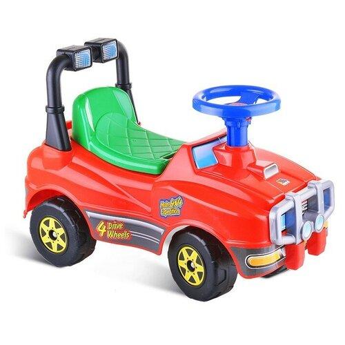 Купить Автомобиль Джип-каталка - №2 (красный), Полесье, Каталки и качалки