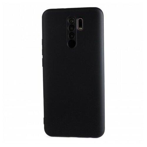 Фото - Матовый силиконовый чехол для Xiaomi RedMi 9 с покрытием софт-тач черный защитный чехол pero для xiaomi redmi 5 софт тач черный