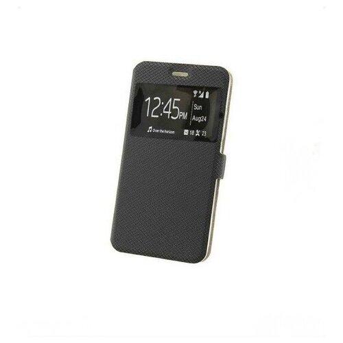 Xехол-книжка MyPads для LG G6 mini / LG Q6 / LG Q6 Plus / LG Q6a M700 черный с окошком для входящих вызовов водоотталкивающий