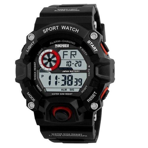 Часы мужские SKMEI 1019 - Черные/Красные