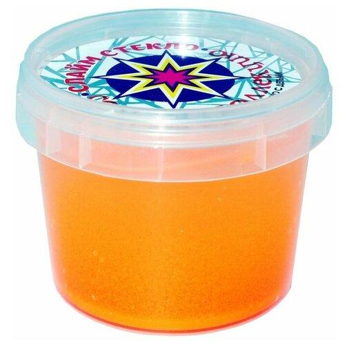 Слайм Стекло серия Party Slime, 100 гр, оранжевый неон, Слайм Стекло