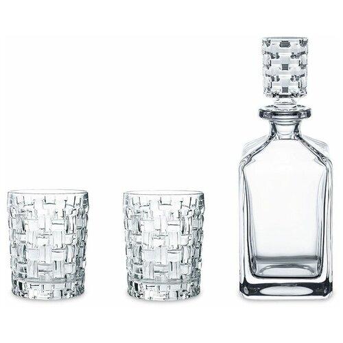 Фото - Набор для виски 3 предмета декантер 750 мл + 2 стакана 330 мл Nachtmann Bossa Nova 101095 набор мини кружек nachtmann 2 предмета 250 мл 98855