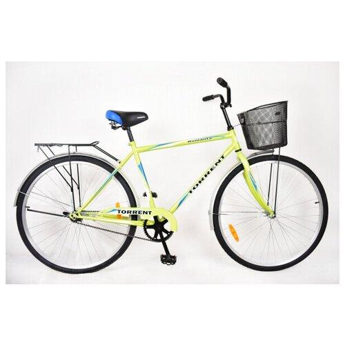 Велосипед Torrent Romantic + корзина, зеленый