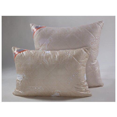 VESTA Подушка стёганная 70х70 см, шерсть мериноса, ткань глосс-сатин, п/э 100%