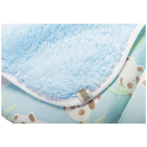 Купить Плед Инь и Ян , цвет: голубой, 85х85 см, Сонный Гномик, Покрывала, подушки, одеяла