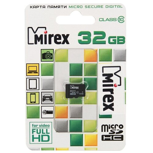 Фото - Карта памяти 32Gb - Mirex - Micro Secure Digital HC Class 10 13612-MC10SD32 (Оригинальная!) карта памяти 8gb mirex micro secure digital hc class 10