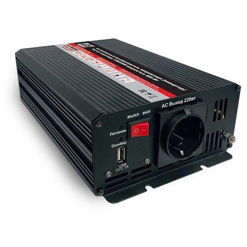 Преобразователь напряжения автомобильный AVS IN-PS600W чистый синус (12В>220В,600 Вт,USB)