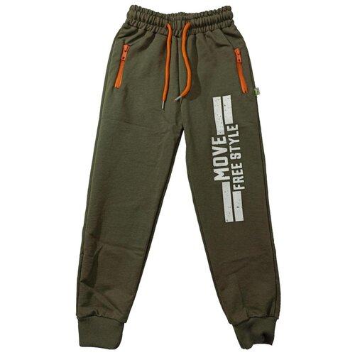 Купить Спортивные брюки Папитто размер 128-134, хаки, Брюки