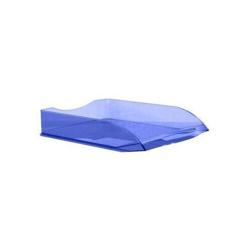 Купить Лоток для бумаг горизонтальный Attache прозрачный голубой 2 шт., Лотки для бумаги