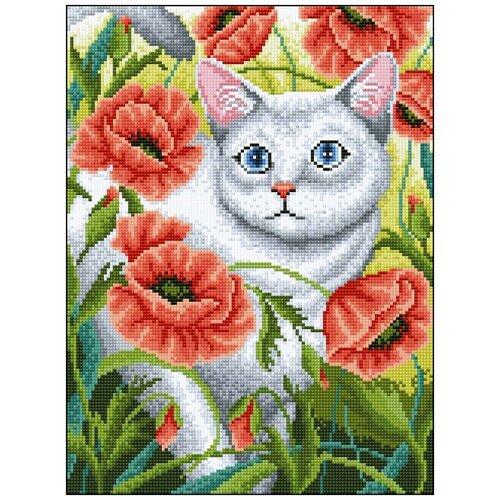 Фото - Алмазная мозаика Алмазная Фея 0086. Котик 3572058 алмазная мозаика для детей котик емкость стержень с клеевой подушечкой