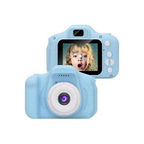 Фото - Детский цифровой фотоаппарат X2 противоударный в защитном корпусе Голубой / Kids Camera детский цифровой фотоаппарат собачка розовый kids camera pink