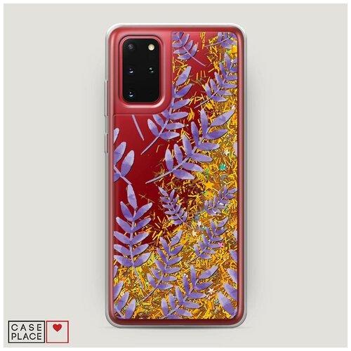 Фото - Чехол Жидкий с блестками Samsung Galaxy S20 Plus Цветочная фантазия 7 чехол жидкий с блестками samsung galaxy s20 plus цветочная фантазия 1