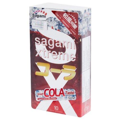 Купить Ароматизированные презервативы Sagami Xtreme Cola - 10 шт.
